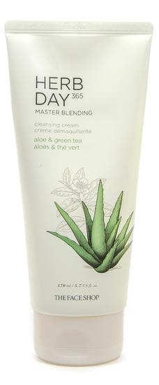 Очищающий крем с экстрактами алоэ и зеленого чая